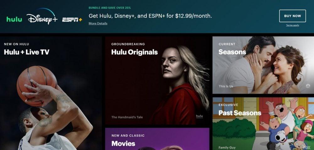 Top 10 Movie Download Sites : Hulu