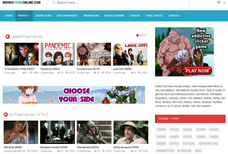 Top 10 Movie Download Sites : Movies Found Online