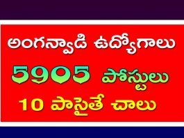 anganwadi recruitment 2020 ap