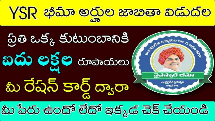 ysr bheema status by aadhar