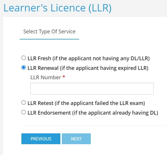 How to renew expired Learning License in AP 2021