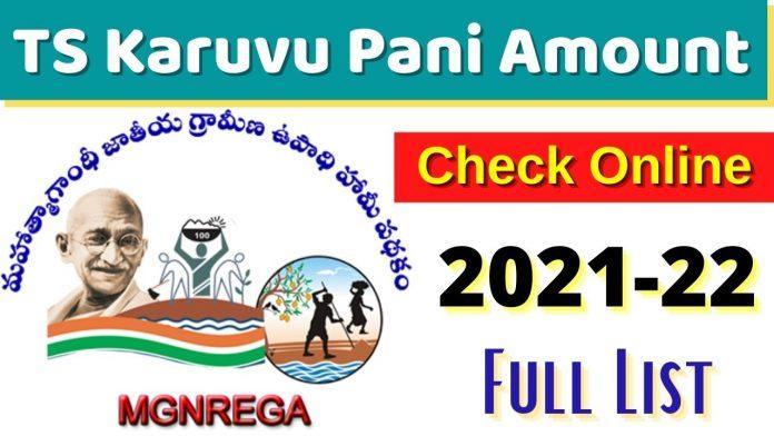 Karuvu Pani Amount Checking TS 2021
